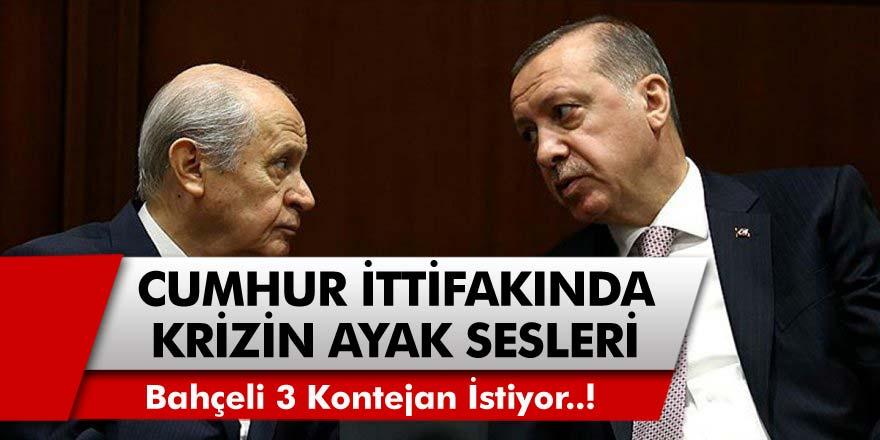 Cumhurbaşkanı Erdoğan ve Devlet Bahçeli Karşı Karşıya Geldi! Bahçeli Bu Defa 3 Kontejan İstiyor