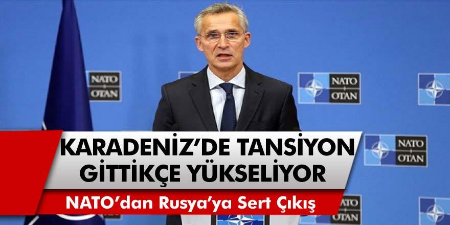 Karadeniz'de Tansiyon Gün Geçtikçe Yükselmeye Devam Ediyor... NATO'dan Rusya'ya Sert Çıkış
