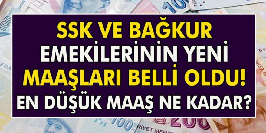 SGK emekli maaşları ödenmeye başladı! 2021 en düşük SGK ve Bağ – Kur emekli maaşları belli oldu…