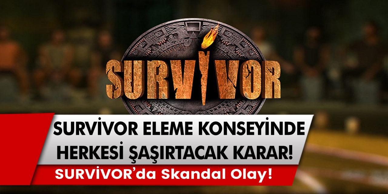 Survivor eleme konseyinde şok karar! Survivor İsmail Balaban'ın içine girdiği skandal olay…