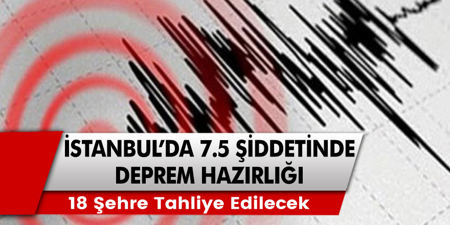 Son dakika haberi: Büyük İstanbul'da 7.5 Şiddetinde deprem hazırlığı! 18 şehre tahliye hazırlıkları başladı!