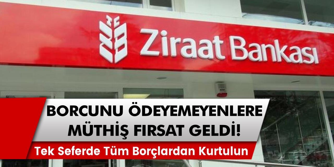 Borcu olmasına rağmen ödeme güçlüğü çekenler için müjde! Ziraat bankası faizsiz borç kapatma fırsatları getiriyor. Tek seferde tüm borçlardan kurtulun…