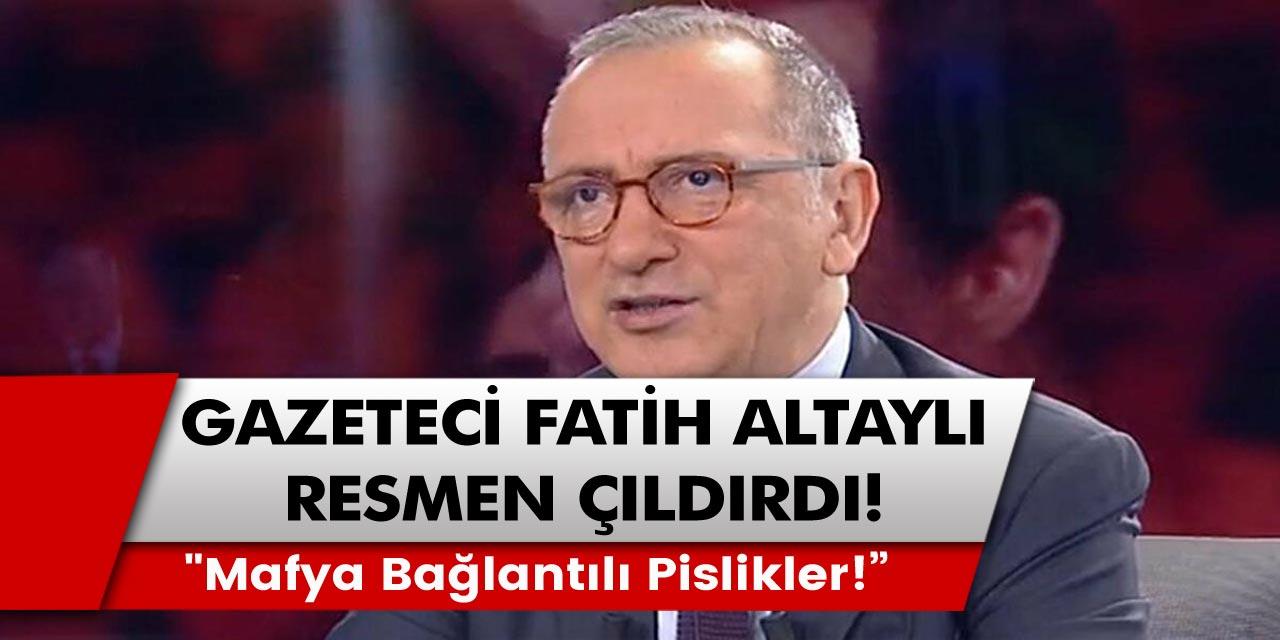 """Gazeteci Fatih Altaylı resmen çıldırdı: """"Mafya bağlantılı pislikler! Kimsiniz ulan siz serseriler!"""""""