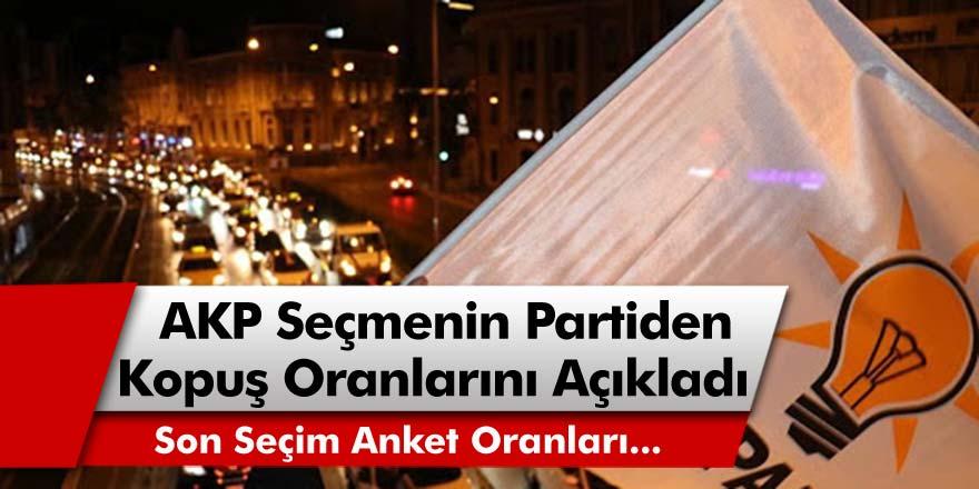 Son Seçim Anket Sonuçlarında AKP Seçmeninin Partiden Kopuş Oranları Açıklandı!