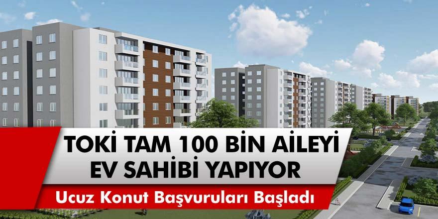 TOKİ'den Büyük Müjde! Ev sahibi olmak isteyen herkesi ilgilendiriyor! 100 bin aile kurasız ev sahibi olabilecek!