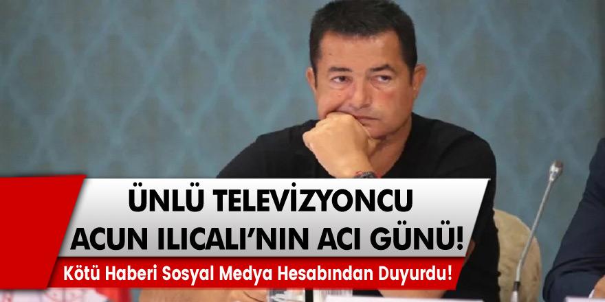 Ünlü televizyoncu Acun Ilıcalı'nın acı günü... Amcası Nazmi Ilıcalı yaşamını yitirdi.