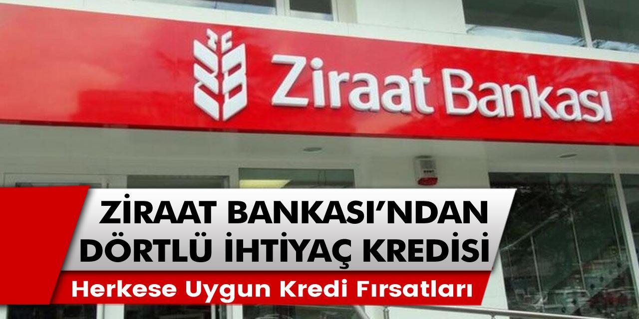 Ziraat bankasından emekli ve çalışanlar için müjde! Dört farklı ihtiyaç kredisi paketleri açıklandı ve başvuru süreçleri başladı…