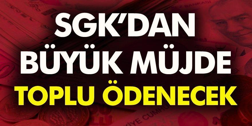 SGK tarafından toplu para ödemesi verilecek: 12 ve 24 aylık peşin ödeme fırsatları…