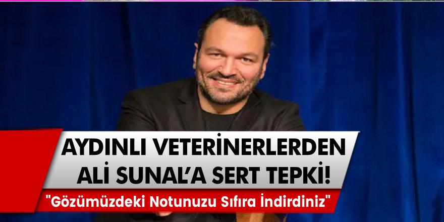 """Aydınlı veterinerlerden sunucu Ali Sunal'a sert tepki! """"Gözümüzdeki notunuzu sıfıra indirdiniz"""""""