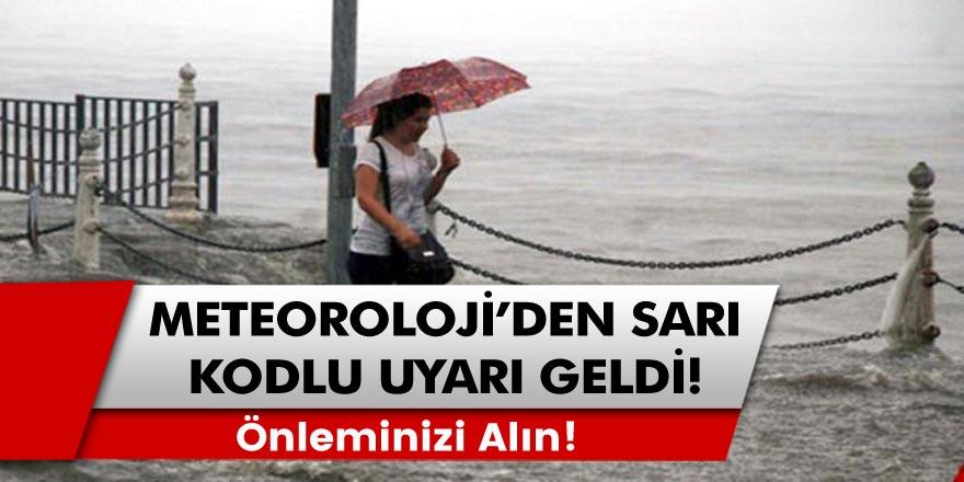 Son Dakika: İstanbul'a çok şiddetli yağmur bastırdı! Meteoroloji'den genel müdürlüğü sarı kodlu sel ve dolu uyarısı geldi!