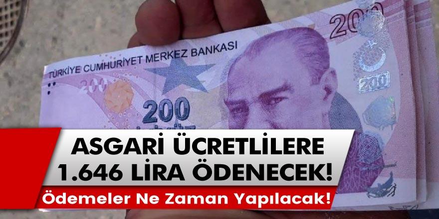 2021 yılında asgari ücretle çalışan işçilere 1.646 lira ikramiye verilecek: Devlet ödemeleri ne zaman yapacak?
