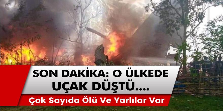 Son dakika: O ülkede 85 kişiyi taşıyan askeri uçak düştü... Çok sayıda yaralı ve ölü var!