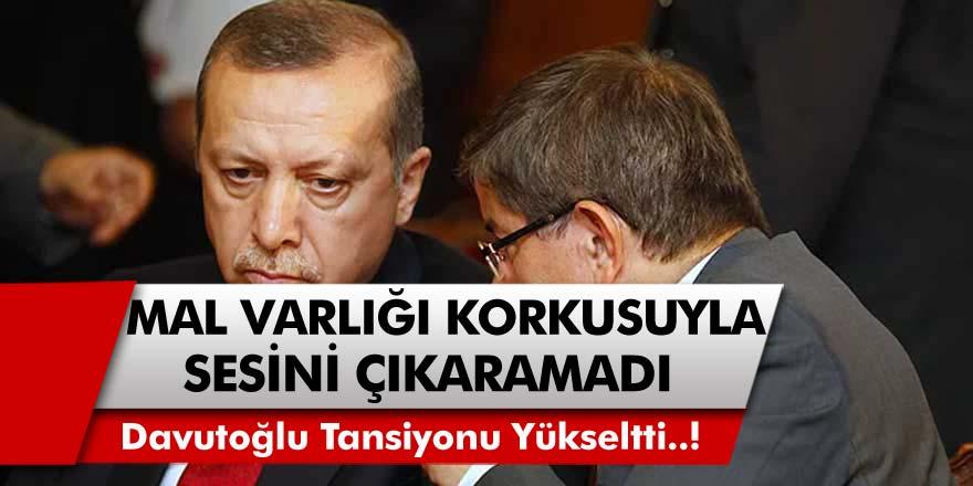 Ahmet Davutoğlu'ndan Bomba İddia! Mal Varlığı Korkusundan Sesini Çıkaramadı..!
