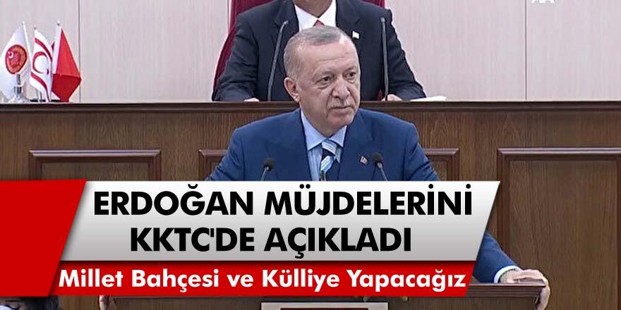 Cumhurbaşkanı Erdoğan, KKTC'de Müjdelerini Tek Tek Açıkladı! Kıbrıs'a Millet Bahçesi ve Külliye Yapacağız..!
