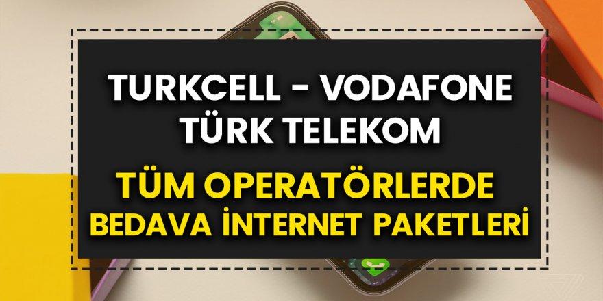 Bedava internet ne yapılarak alınır? Vodafone, Türk Telekom, Turkcell bayramda ücretsiz 1-10-2 GB internet kampanyası!