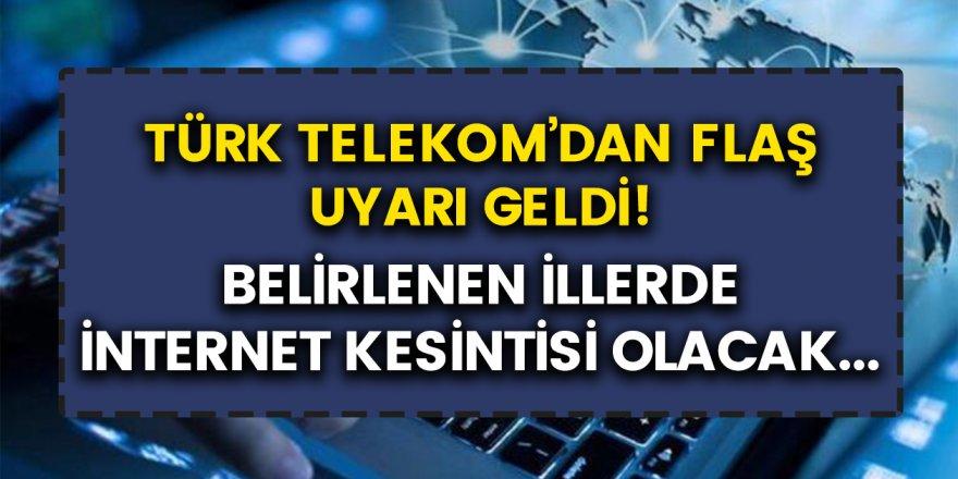 Türk Telekom'dan herkesi hüsrana boğan açıklama: 6 farklı ilde internet kesintileri oluyor…