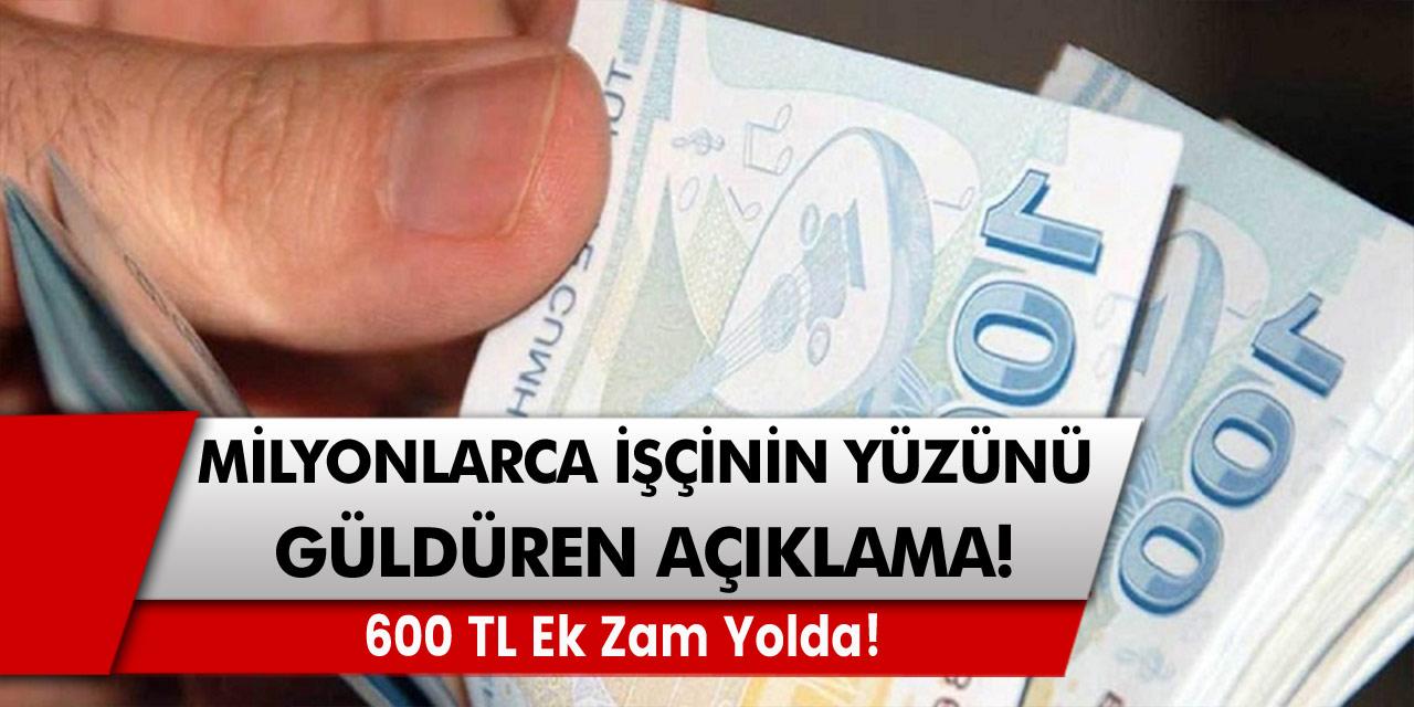 Milyonlarca işçinin yüzünü güldürecek açıklama: Talepler kabul edildiği an 600 TL ek zam yolda! 4D taşeron ve kamu işçileri…