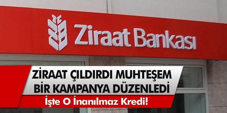 Maaşınızın 45 Katına Kadar Krediyi Ziraat Bankası Verecek! Bugün Yeni Kampanya Duyuruldu