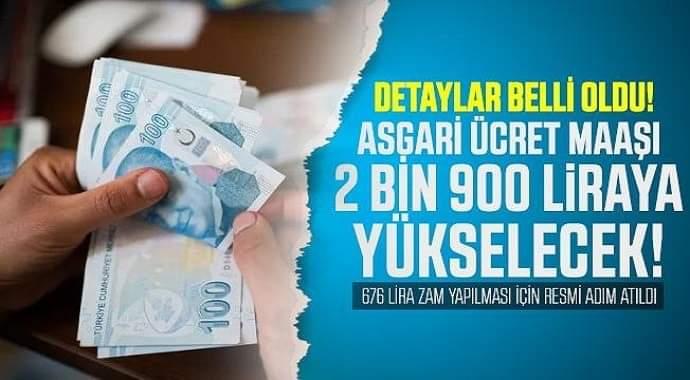 Müjde asgari ücret maaşı 2 bin 700 lira yükselecek... Resmi adım atıldı!