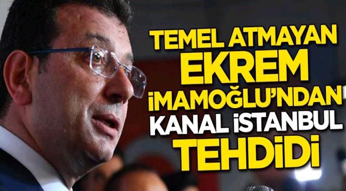 Ekrem imamoğlu projeye engel olmak için eliden gelen her şeyi yapacağını belirtti.