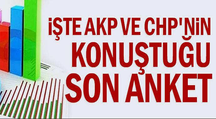 AKP ve CHP'nin Konuştuğu Son Anket Oranları