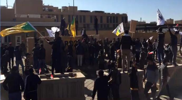 Irak'ta ABD Büyükelçiliği İşgal Edildi